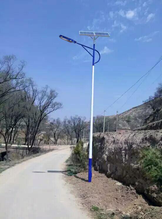 河南安阳7米40W太阳能路灯案例